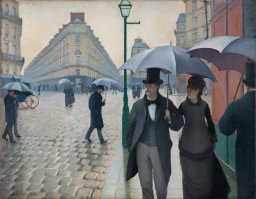 A Paris Street, Rain. Gustave Caillebotte, 1877, Art Institute of Chicago